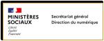 Direction du numérique - Ministère Sociaux Logo